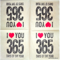 Napkin - I love you 365 days
