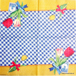 Napkin - Holland - Tulips