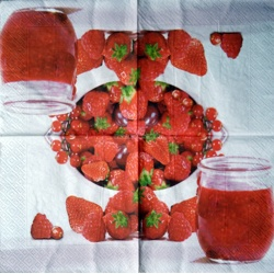 Napkin - Strawberry jam