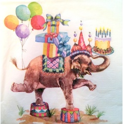 Napkin - Elephant - Party