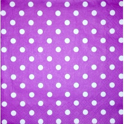 Napkin - White point on purple background