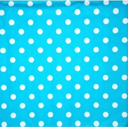 Napkin - White points on turquoise background