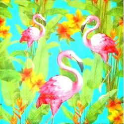 Serviette - Flamingo