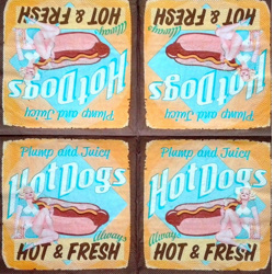 Serviette - Hot Dog retro