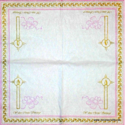 Napkin - Birth - Pink