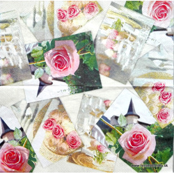 Napkin - Wedding and Roses