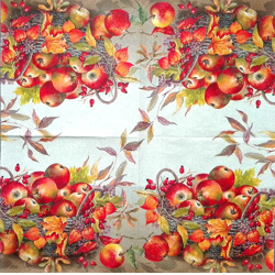 Napkin - Basket with Apples