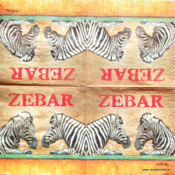 Napkin - Zebra - little