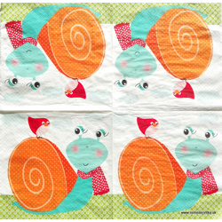 Serviette - Schnecke - orange