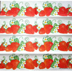 Napkin - strawberries