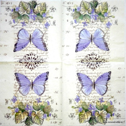 Napkin - Butterflies and Violets
