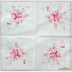 Napkin - Greengate - Flowers - little