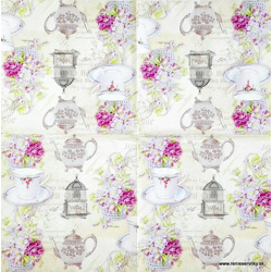 Napkin - Tea, Flowers