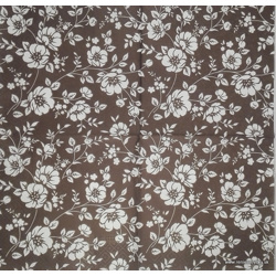 Napkin - Flowers - brown