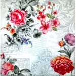Napkin - Flowers and Ornaments