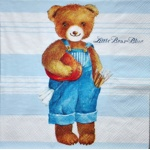 Serviette - Teddy blau