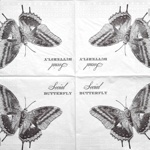 Serviette - Schmetterling