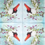 Napkin - goose and flowers