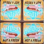Napkin - Hot Dog retro