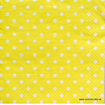 Napkin - Whitte Points, yellow Background