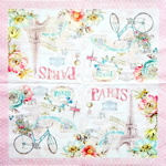 Napkin - Paris - bicycle