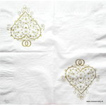 Napkin - Heart - Wedding