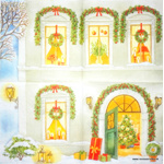 Napkin - Christmasdoor - little