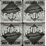 Servítka - Vintage - Hot Dogs